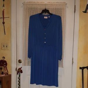 Avenue Size 24 Royal Blue Shirtdress